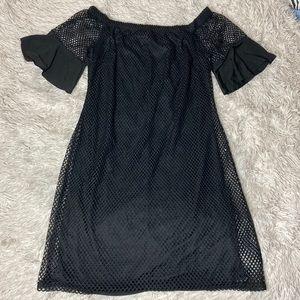 NWT Plus Size Fishnet Mini Dress!